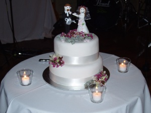 Our Wedding Cake before it was Cut