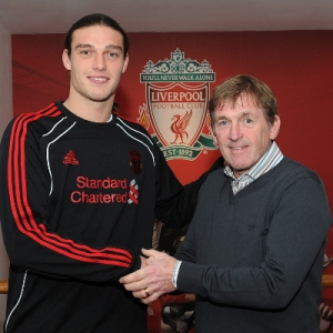 Andy Carroll and Kenny Dalglish