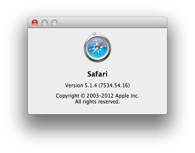 Safari Version 5.1.4